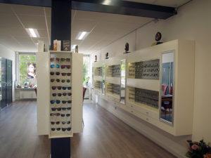 collectie brillen en zonnebrillen in de winkel Optique Labryere, Dorpsstraat 575 Noord-Scharwoude