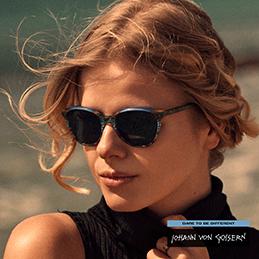 vrouw draagt een zonnebril van Johann von Goisern